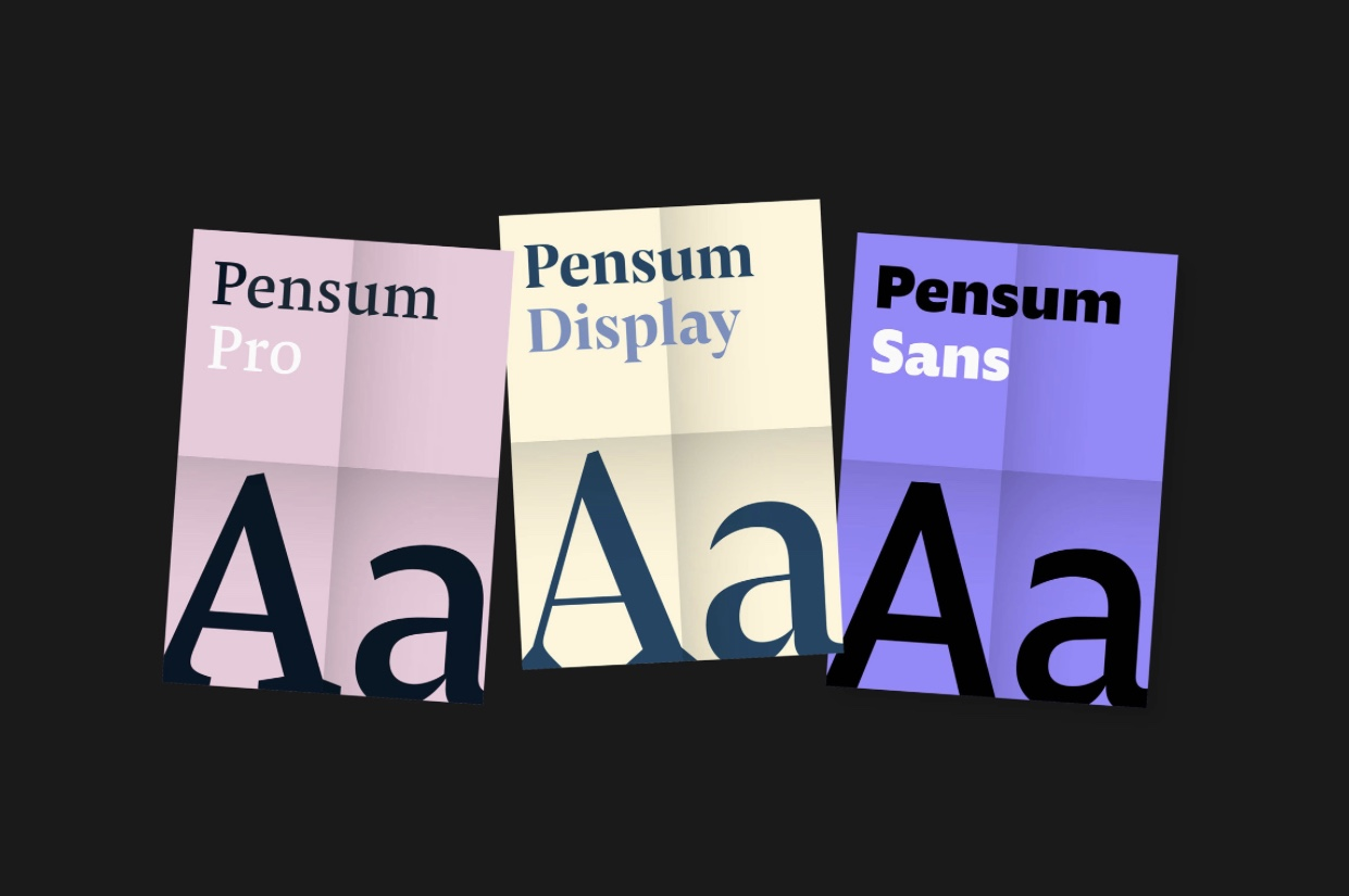 TypeMates' Pensum Trilogy is 50% off until March 31