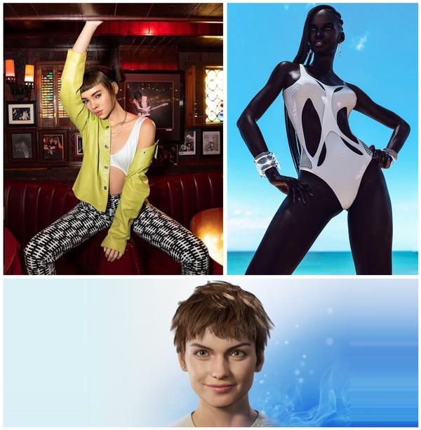 Credit: IG @lilmiquela (top left), IG @Shudu.Gram (top right), Magic Leap Mica (bottom)