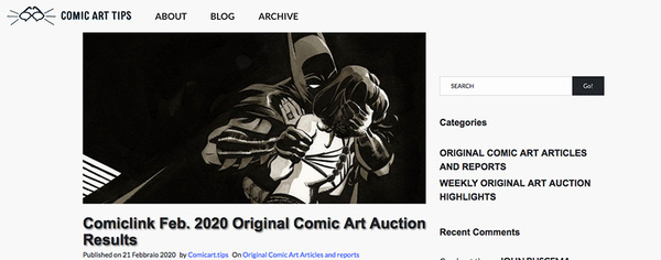 ComicLink Original Art Auction