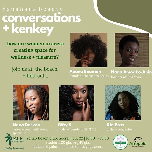 """The Afropole on Instagram: """"What does pleasure + wellness mean to you? Join the conversation this Saturday, Feb 22 with this panel of dynamic creatives! Oh, and…"""""""