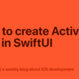 How To Create Activity Ring In SwiftUI