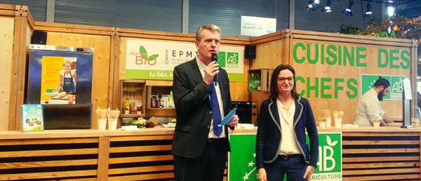 Florent Guhl, directeur de l'Agence Bio et Ilaria Casillo, vice-présidente de la CNDP