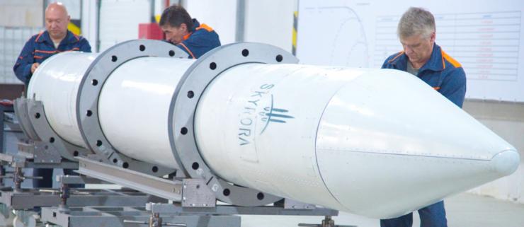 3D-printet raket flyver på plastikaffald