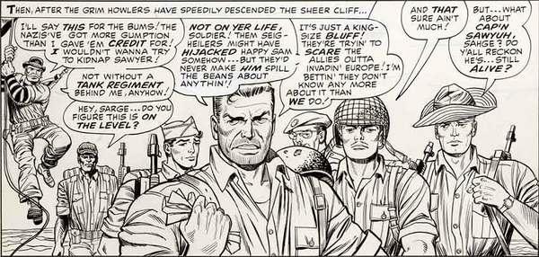 Dick Ayers - Sgt Fury Original Comic Art