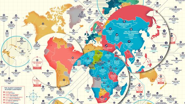 Na grafice znalazły się wszystkie państwa świata