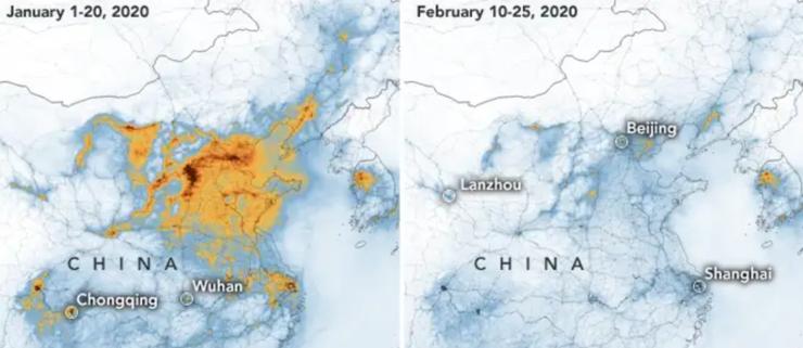 Uset fald i kinesisk forurening
