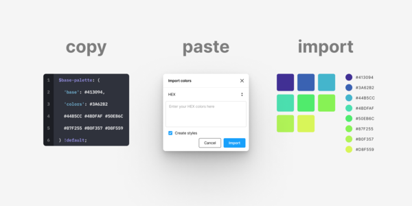Figma Color Import — Just copy + paste…