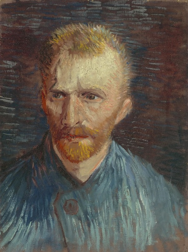 'Zelfportret' 1887 - olieverf op doek: Vincent van Gogh (herkomst: coll. Van Gogh Museum, Amsterdam - Vincent van Gogh Stichting).