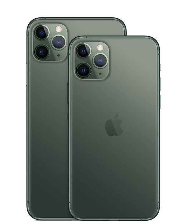 The iPhone 11 Pro and iPhone 11 Pro Max in Midnight Green