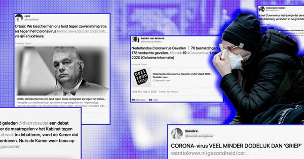 Twintig misleidende nieuwsberichten over coronavirus worden verspreid via Twitter