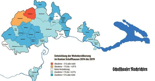 Schaffhausen ist letztes Jahr nur ganz leicht gewachsen – und nicht überall