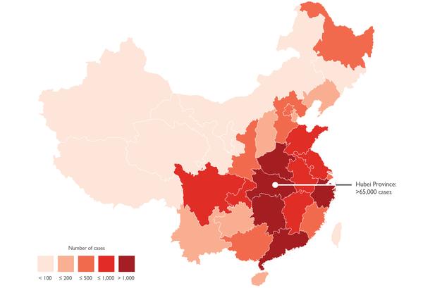 Aantal besmettingen per provincie