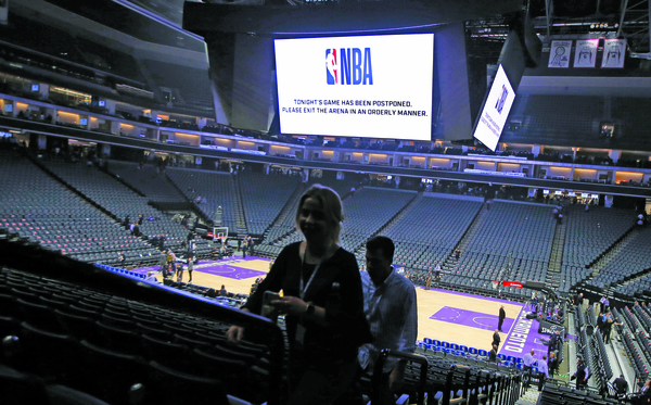 NBA suspends the season until further notice after Jazz's Rudy Gobert tests positive for coronavirus