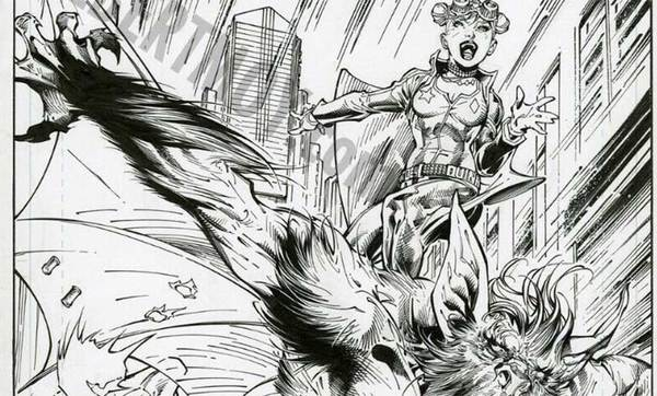 Jim Lee - Harley Quinn Original Splash Page