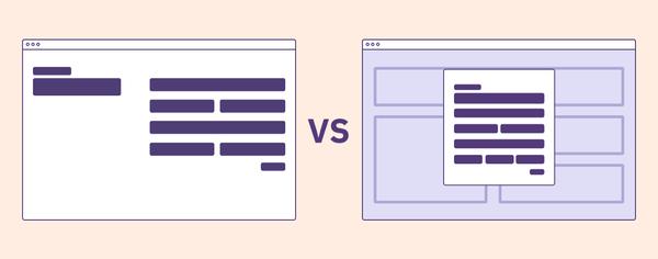Modal vs Page: A Decision Making Framework