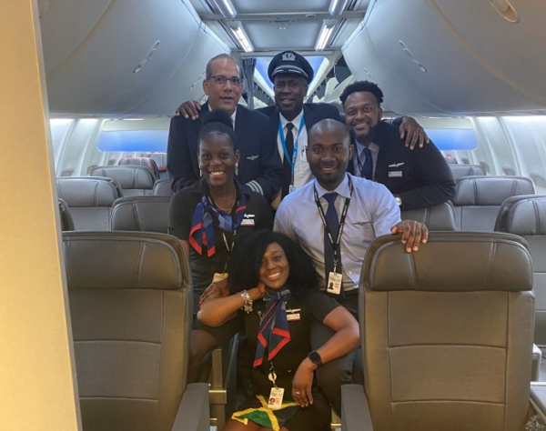 For the First Time in History, An American Airlines Flight has All-Jamaican Crew