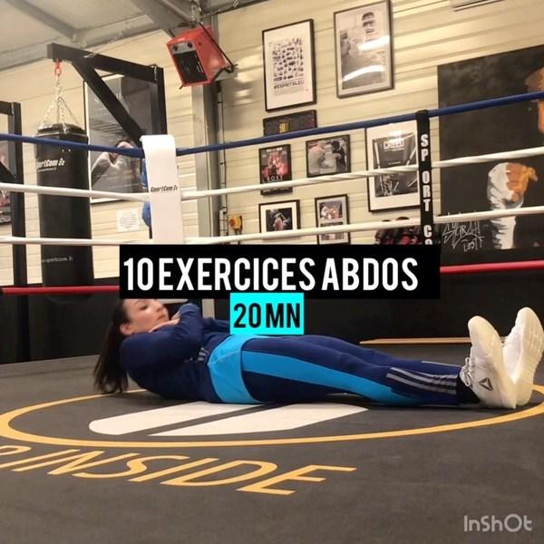 """Sarah Ourahmoune OLY on Instagram: """"[ 10 EXERCISES ABDOS] Pour finir la semaine, je vous propose 10 exercices pour renforcer votre sangle abdominale. Au menu du jour : ✔️ 30…"""""""
