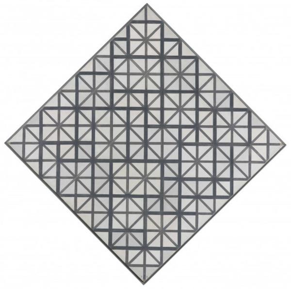 'Compositie met grijze lijnen' 1918 - olieverf op doek: Piet Mondriaan (herkomst: coll. Kunstmuseum Den Haag)