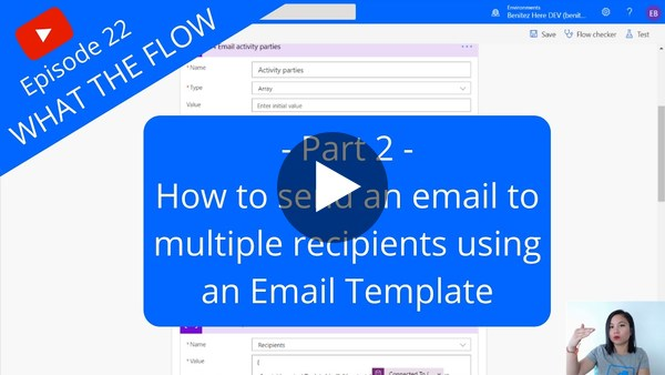 Send an email to multiple recipients using an Email Template