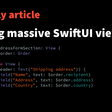 Avoiding Massive SwiftUI Views
