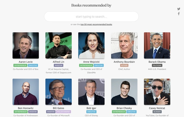 Na stronie znajdziemy także ranking 50 najczęściej polecanych książek