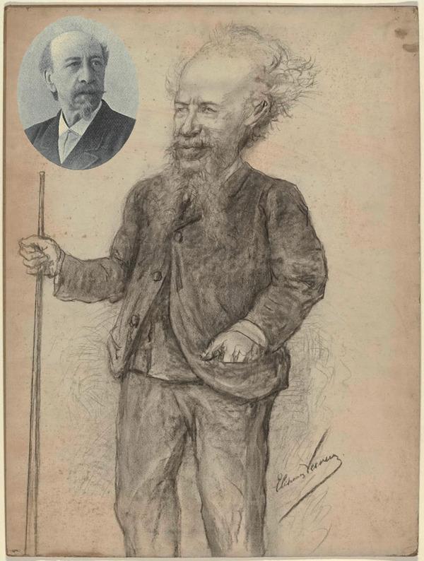 'Karikatuurportret van Carl Sierig' - potleedtekening: Elchanon Verveer (herkomst: coll. Rijksmuseum Amsterdam)