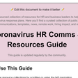 ⭐⭐ Amazing Google Doc of Coronavirus Resources