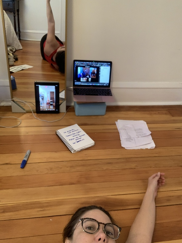 This is not a yoga posture. This is selfie + technology.