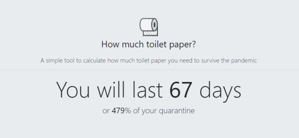How Much Toilet Paper?! - The Coronavirus Toilet Paper Calculator