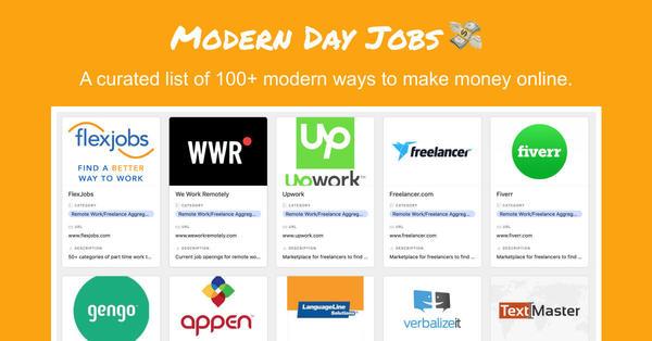 Modern Day Jobs 💸