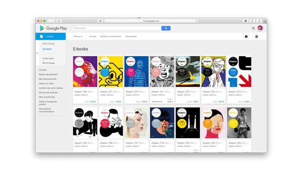 étapes:  met sa revue à disposition sur Google Play Livres