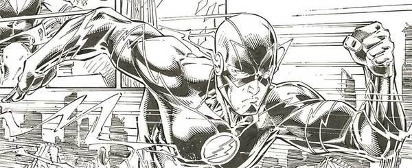 Brett Booth - Flash Original Comic Art