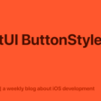 SwiftUI ButtonStyle