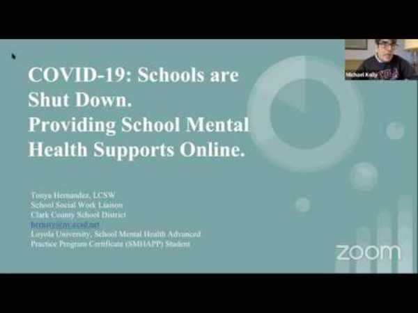 Providing School Mental Health Supports Online