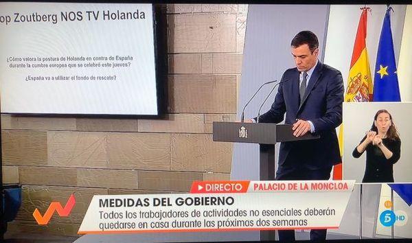 Vraag van Rop Zoutberg tijdens persconferentie met premier Sanchez