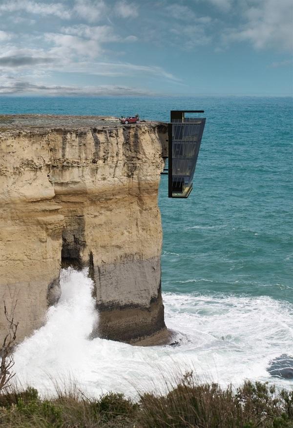 Cliff House - l'étonnante maison australienne suspendue à une falaise - ActuNautique.com