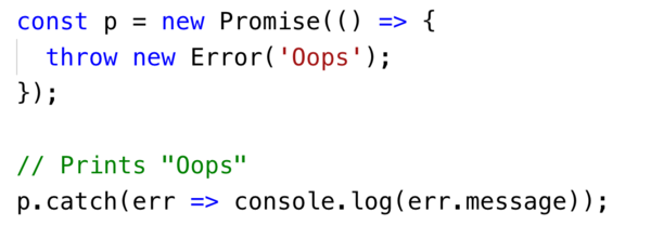 ES6 promises handle sync errors