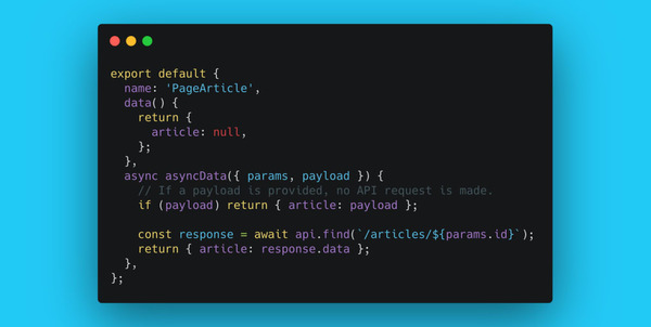 Cut Your Nuxt.js generate Build Time in Half with context.payload - Markus Oberlehner