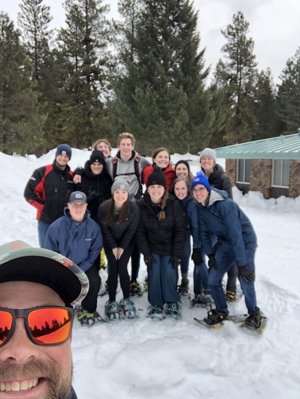 Part of our group went snowshoeing
