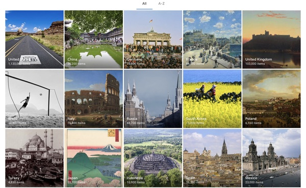 Google Arts & Culture - Miejsca