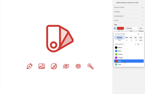 Sketch Tints — Color icons the easy way