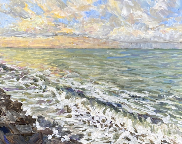 Sold - Sunrise at Gordon's Beach study by Terrill Welch