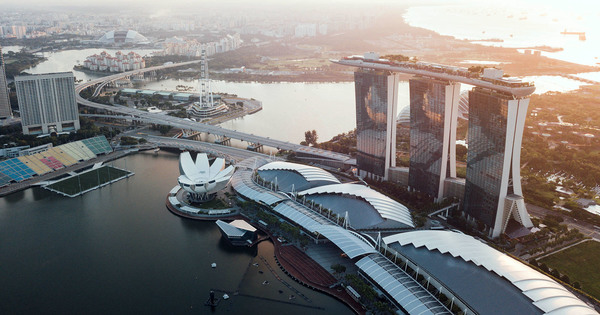 Drone Photos of Singapore Shot at 1,640 Feet
