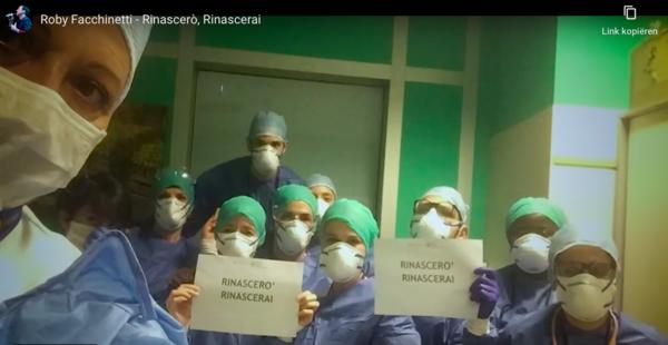 'Rinascerò, rinascerai' op YouTube (screenshot)