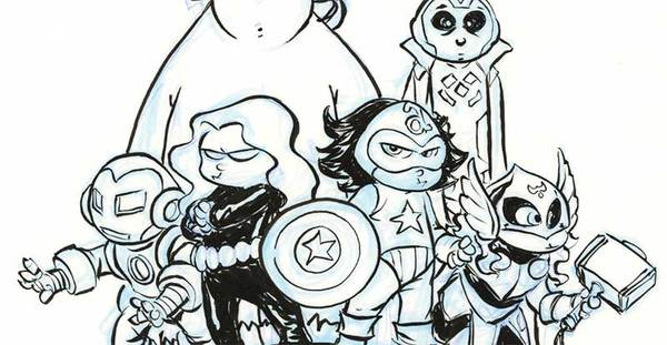 Skottie young - Original Avengers Cover Art