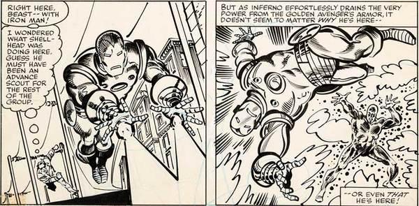 Sal Buscema - Avengers Original Comic Art
