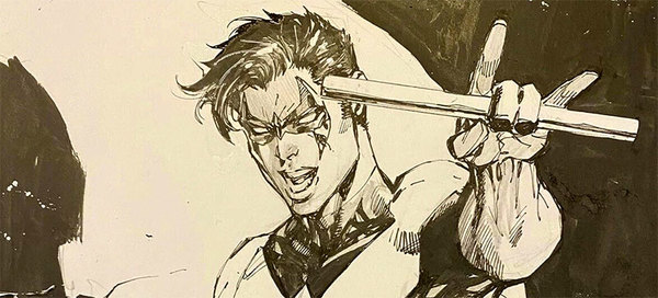 Jim Lee - Nightwing Original Comic Art