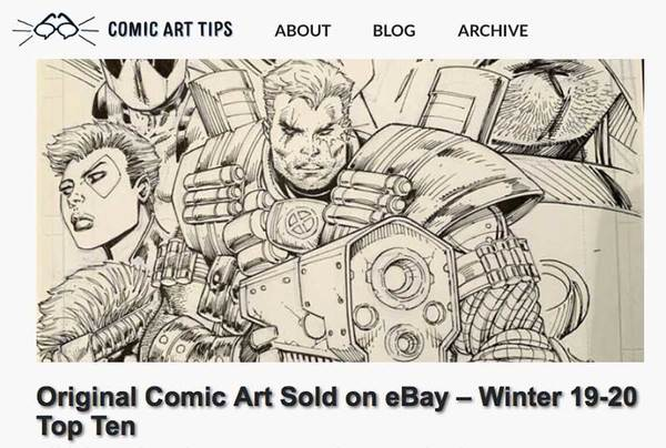 Original Comic Art on eBay Top ten