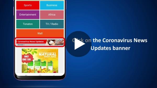 Exploring GhanaWeb's Coronavirus page