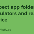 Inspect App folder In Simulators And Real Device